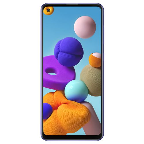 Celular Samsumg Galaxy A21s Azul - Frontal