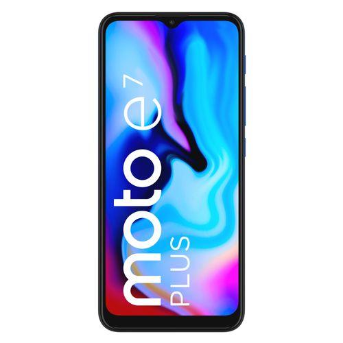 Celular Motorola E7 plus Azul -Frontal