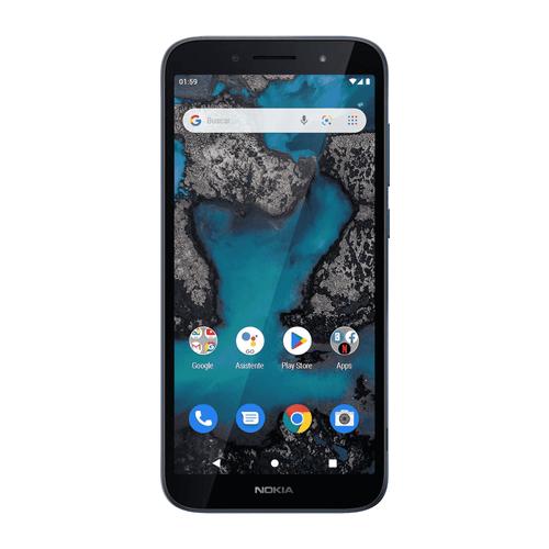 Celular Imagen Frontal Nokia C1 plus Azul